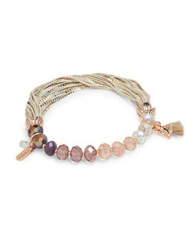Lonna & Lilly Hanging Blossoms Stretch Bracelet-PINK-One Size