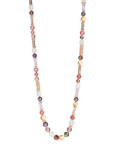 Lonna & Lilly Rose Goldplated Beaded Necklace-PINK-One Size