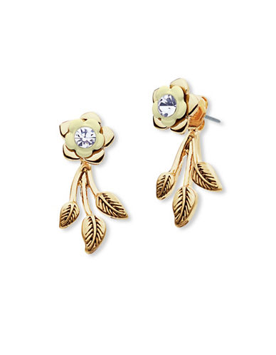Lonna & Lilly Goldtone Floral Floater Earrings-GOLD-One Size
