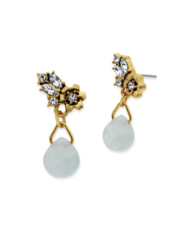 Lonna & Lilly Hanging Blossoms Goldplated Stud Drop Earrings-WHITE-One Size