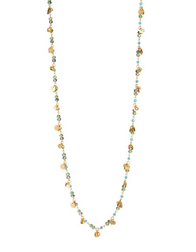 Lonna & Lilly Rose Shower Goldplated Beaded Necklace-MULTI-One Size