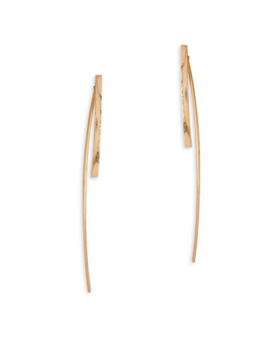 Garbo Simple Bar Earrings-GOLD-One Size