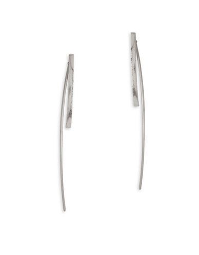 Garbo Simple Bar Earrings-SILVER-One Size