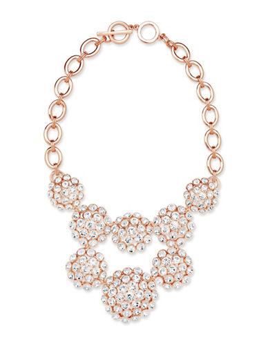 Anne Klein Cluster Bib Necklace-ROSEGOLD-One Size