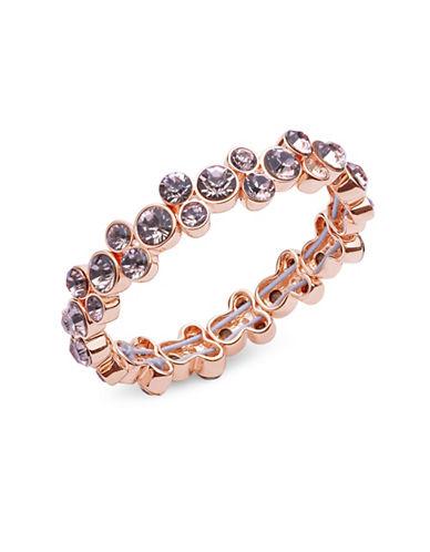 Anne Klein Cluster Stretch Bracelet-ROSEGOLD-One Size