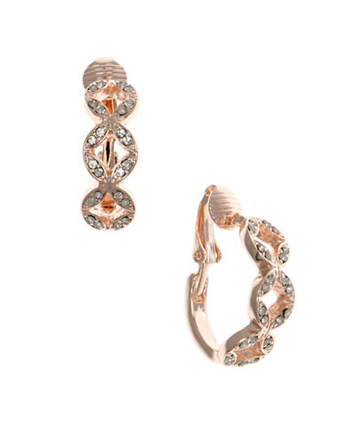 Anne Klein Pave Hope Earrings-ROSEGOLD-One Size