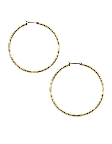 Anne Klein Goldtone Large Hoop Earrings-GOLD-One Size