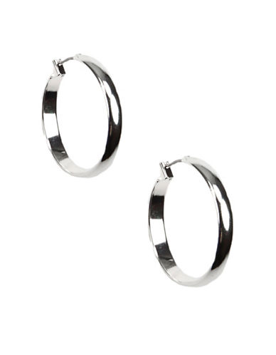 Anne Klein Silvertone Hoop Earrings-SILVER-One Size
