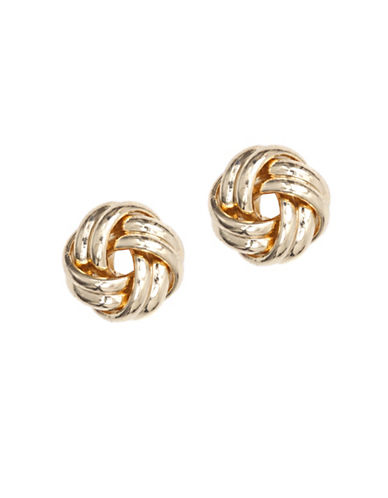 Anne Klein Goldplated Knot Stud Earrings-GOLD-One Size
