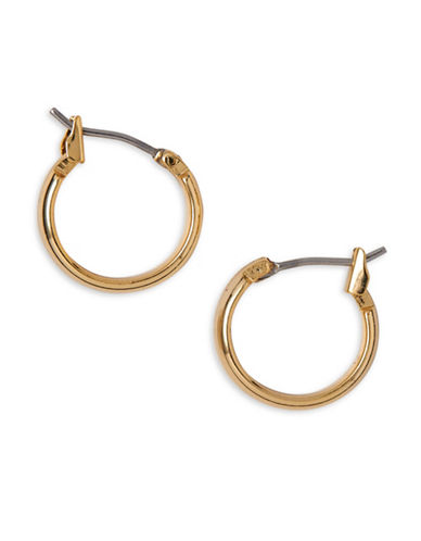 Anne Klein Goldplated Wire Hoop Earrings-GOLD-One Size