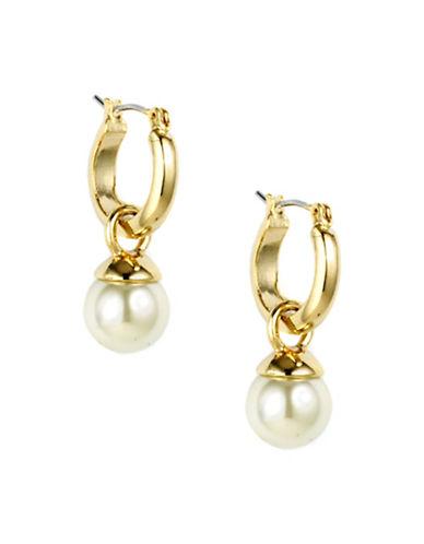 Anne Klein 10MM Faux Pearl Goldtone Drop Earrings-WHITE-One Size