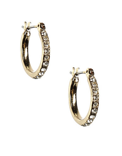 Anne Klein Goldtone Small Hoop Earrings-GOLD-One Size