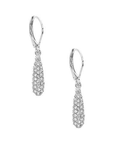 Anne Klein Silvertone Teardrop Earrings-SILVER-One Size