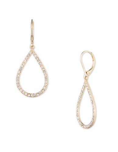 Anne Klein Goldplated Teardrop Earrings-GOLD-One Size