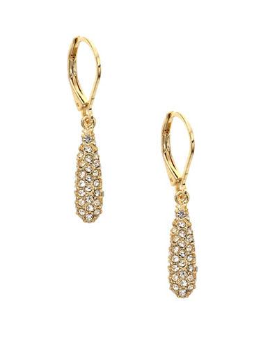Anne Klein Goldtone Teardrop Earrings-GOLD-One Size