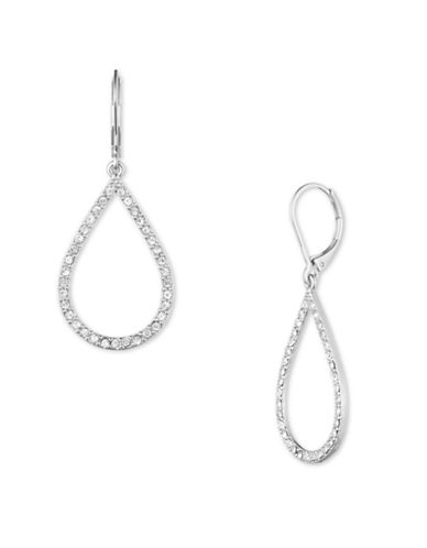 Anne Klein Silverplated Teardrop Earrings-SILVER-One Size