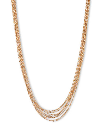 Anne Klein Goldplated Multi-Row Collar Necklace-GOLD-One Size