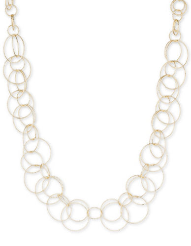 Anne Klein Goldplated Open Link Collar Necklace-GOLD-One Size