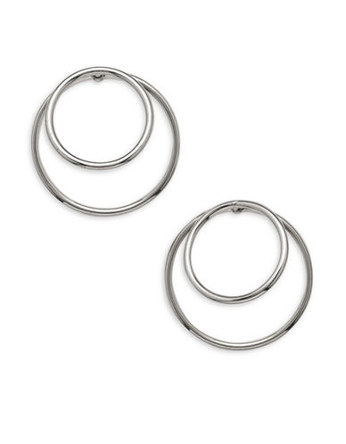 Garbo Double Hoop Earrings-SILVER-One Size