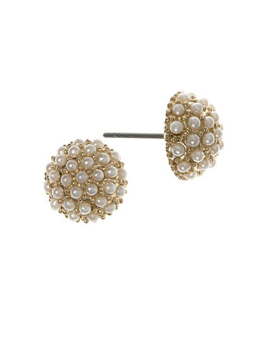 Lonna & Lilly 2MM Simulated Pearl 12K Goldplated Stud Earrings-PEARL-One Size