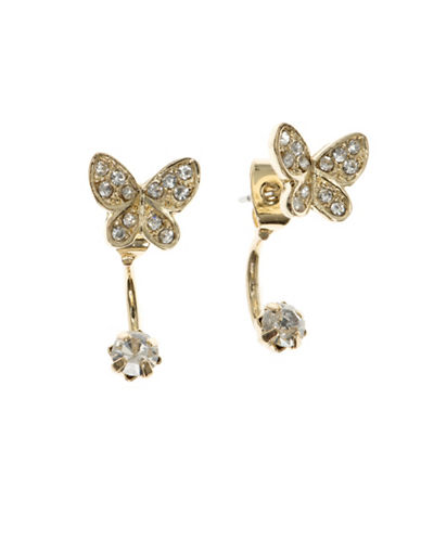 Lonna & Lilly Goldplated Butterfly Pierced Earrings-GOLD-One Size