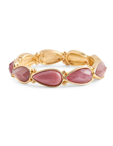 Nine West Spring Droplets Stretch Bracelet-BURGUNDY-One Size