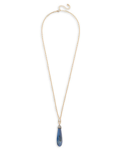 Garbo Long Pendant Necklace-BLUE-One Size