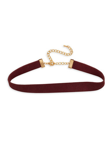 Garbo Faux-Suede Choker-BURGUNDY-One Size
