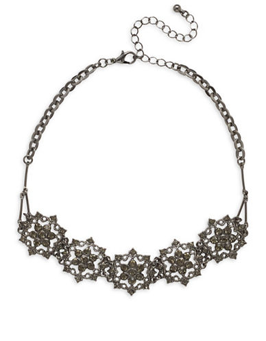 Garbo Pave Mandala Choker-BLACK DIAMOND-One Size