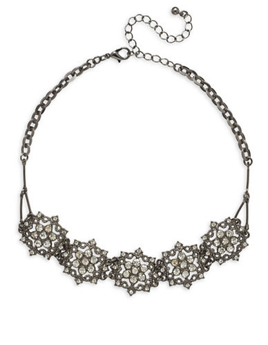 Garbo Pave Mandala Choker-CRYSTAL-One Size