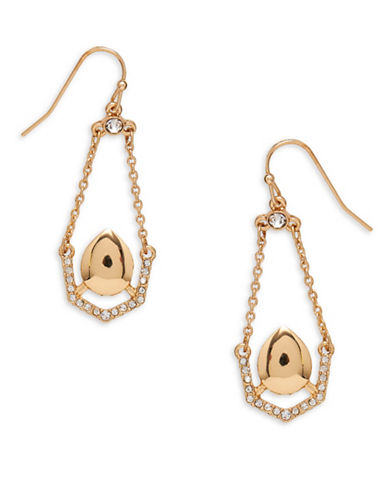 Garbo Pave Pendulum Drop Earrings-GOLD-One Size