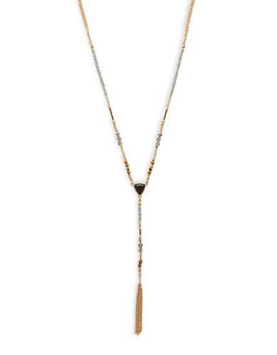 Garbo Chain Tassel Y-Necklace-GOLD-One Size