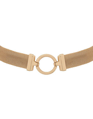 Anne Klein Imitation Goldplated Choker Necklace-GOLD-One Size