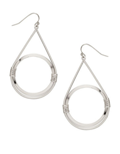 Garbo Wired Circle Drop Earrings-SILVER-One Size