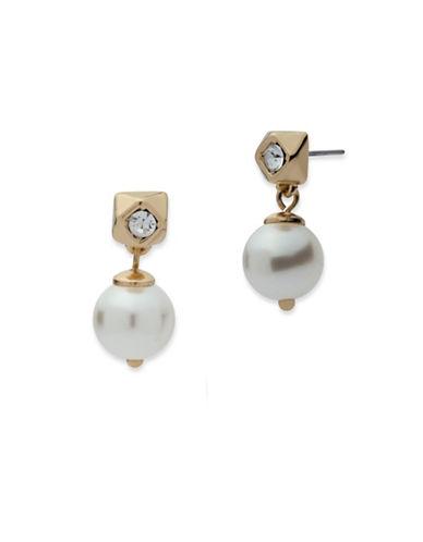 Anne Klein Chian Faux Pearl Earrings-WHITE-One Size