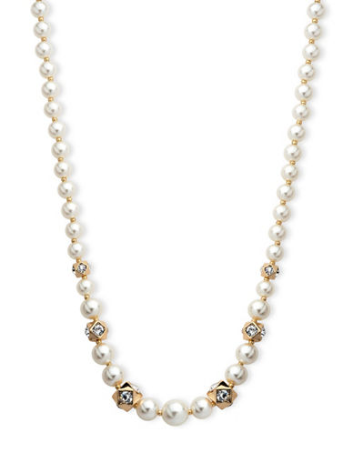 Anne Klein Chian Faux Pearl Necklace-PEARL-One Size