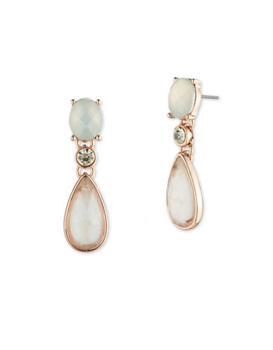 Anne Klein Aventura Recolour Embellished Drop Earrings-WHITE-One Size