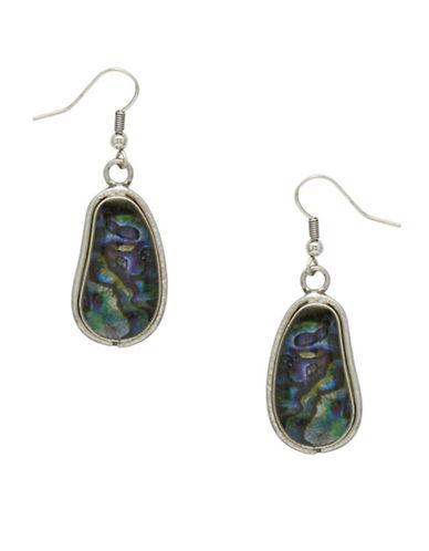 Garbo Kidney Drop Earrings-BLUE-One Size