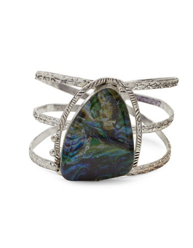 Garbo Pendant Cage Cuff-BLUE-One Size