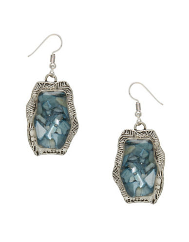 Garbo Fractured Pendant Earrings-TURQUOISE-One Size