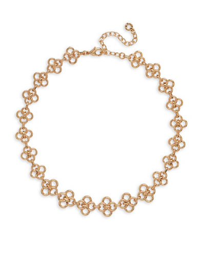 Anne Klein Goldtone Circular Necklace-GOLD-One Size