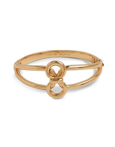 Anne Klein Goldtone Circular Bracelet-GOLD-One Size