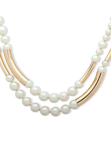 Anne Klein Pearlfect Faux Pearl Necklace-WHITE-One Size