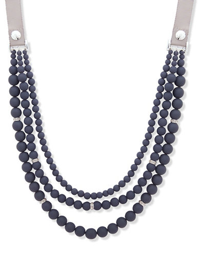Anne Klein Meet Matte Multi-Strands Necklace-BLUE-One Size