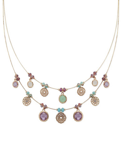 Lonna & Lilly Royal Radiance Multi Charm Necklace-MULTI-One Size