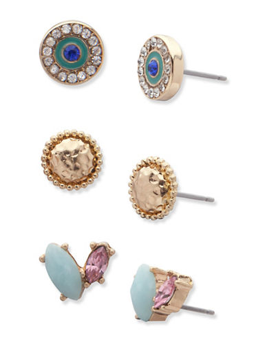 Lonna & Lilly Royal Radiance Stud Earrings Set-MULTI-One Size