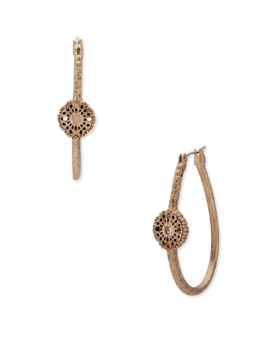 Lonna & Lilly Royal Radiance Hoop Earrings-GOLD-One Size