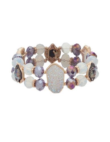 Lonna & Lilly Orchid Skys Studded Bracelet-PURPLE-One Size