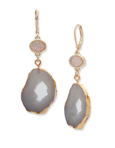 Lonna & Lilly Summer Nights Crystal Earrings-GREY-One Size