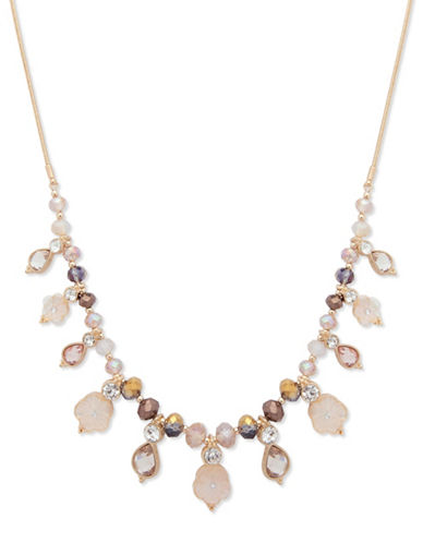 Lonna & Lilly Autumn Sunrise Floral Frontal Necklace-BEIGE-One Size